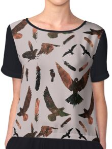 Soaring Birds - Space Variant 1 Chiffon Top