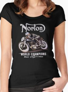 NORTON TT VINTAGE ART WINNER OF 26 RACES Women's Fitted Scoop T-Shirt