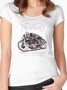 NORTON TT VINTAGE ART WINNER OF 26 RACES Women's Fitted Scoop T-Shirt
