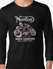 NORTON TT VINTAGE ART WINNER OF 26 RACES Long Sleeve T-Shirt