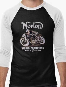 NORTON TT VINTAGE ART WINNER OF 26 RACES Men's Baseball ¾ T-Shirt