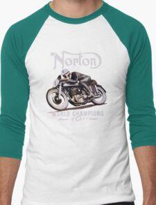 NORTON TT VINTAGE ART WINNER OF 26 RACES Men's Baseball ¾ T-Shirt