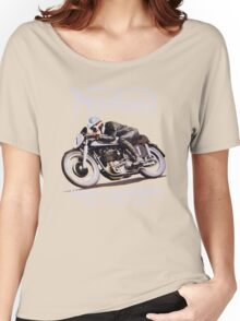 NORTON TT VINTAGE ART WINNER OF 26 RACES Women's Relaxed Fit T-Shirt