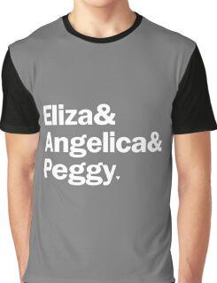 Hamilton - Eliza & Angelica & Peggy | Black Graphic T-Shirt
