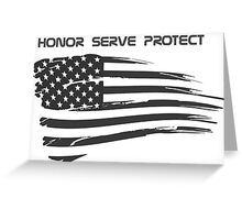 USA Cops/Military Greeting Card
