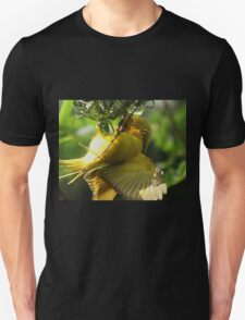 yellow nesting bird Unisex T-Shirt