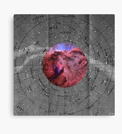Star Chart Canvas Print