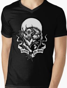 Beware the Moon Mens V-Neck T-Shirt