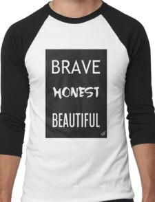 Brave Honest Beautiful // 5H Men's Baseball ¾ T-Shirt
