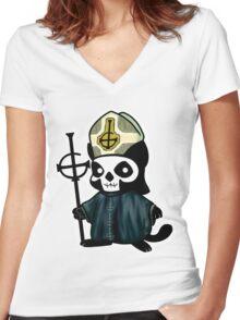 Papa Emeowritus III Women's Fitted V-Neck T-Shirt