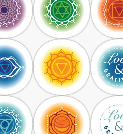 Chakra bottle stickers Sticker