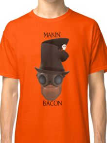 "TF2 Gibus Engineer ""Makin' Bacon"" Classic T-Shirt"