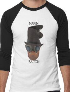 "TF2 Gibus Engineer ""Makin' Bacon"" Men's Baseball ¾ T-Shirt"