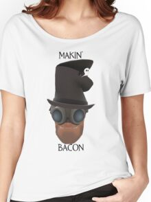 "TF2 Gibus Engineer ""Makin' Bacon"" Women's Relaxed Fit T-Shirt"