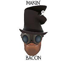 "TF2 Gibus Engineer ""Makin' Bacon"" Photographic Print"