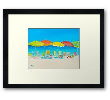 Beach Art - Beach Chairs Framed Print