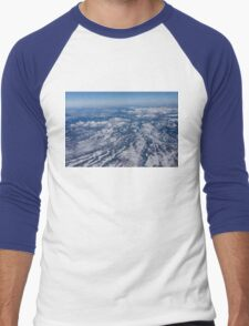 Mountains as Far as the Eye Can See - Flying Over the Rockies Men's Baseball ¾ T-Shirt