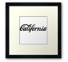 """California"" Unisex Tee Framed Print"