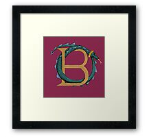 Basil the Basilisk Framed Print