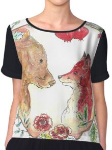 The bear and the fox  Chiffon Top