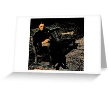 WWII Airman in England Greeting Card