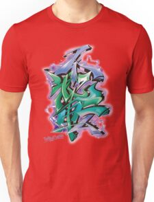 Japanese KANJI Graffiti Futaiten (bluegreen col) Unisex T-Shirt
