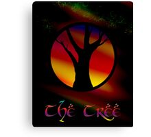 The Tree - A Rainbow World Tree Design Canvas Print