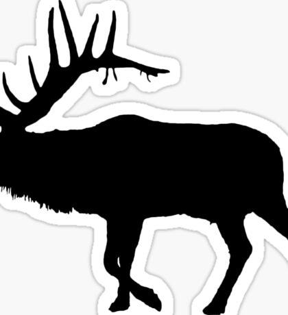 Bull Elk Silhouette  Sticker