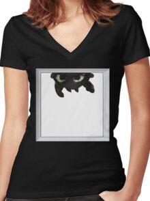 Curiosity Women's Fitted V-Neck T-Shirt