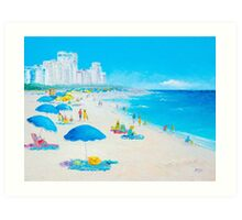 Beach painting - Miami Beach Umbrellas Art Print