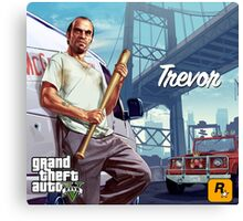 Trevor Philips GTA V Poster Canvas Print