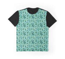 Cactus Fields - Blue Graphic T-Shirt