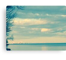 Toronto in May, bluetified Canvas Print