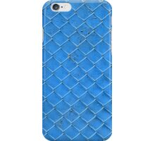 blue fence net iPhone Case/Skin