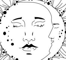 Sun and Moon Sunflower Sticker