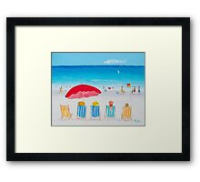 Beach Art - On The Beach Framed Print