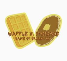 Waffle V. Pancake Dawn of Breakfast One Piece - Long Sleeve