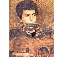 PORTRAIT OF BOB DYLAN Photographic Print