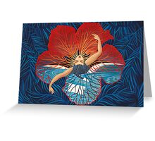 Flower Hawaii Pele Greeting Card