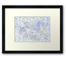 Dance in Grey and Blue Framed Print
