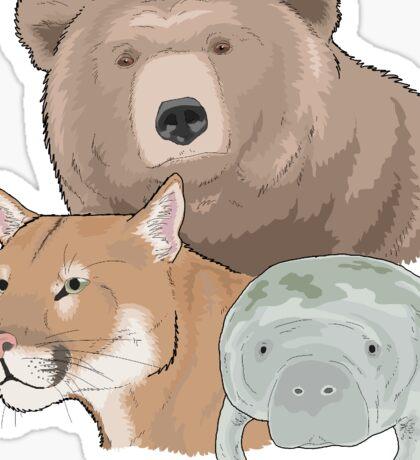 Endangered species of North America Sticker