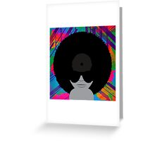 Funky Vinyl Records - Music Art Greeting Card