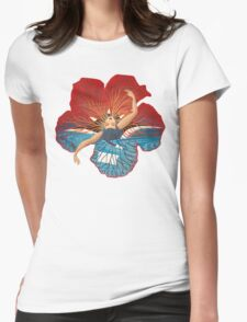 Flower Hawaii Pele Womens Fitted T-Shirt