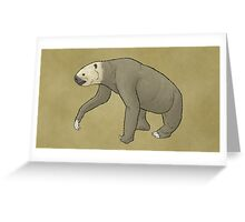The giant ground sloth Megalonyx Greeting Card