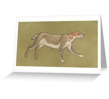 Megantereon, a cat with saber teeth Greeting Card