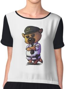Grumpy German Shepherd Cop Chiffon Top
