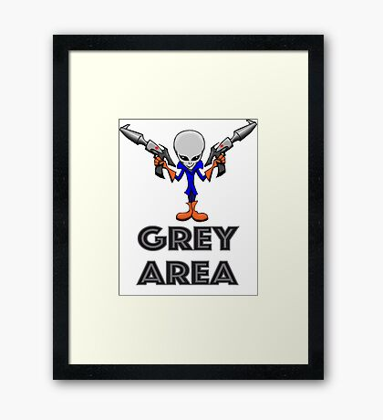 GREY AREA Framed Print