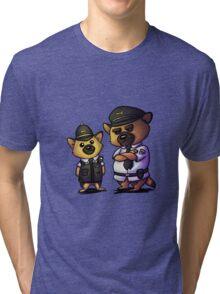 German Shepherd Cop Duo Tri-blend T-Shirt