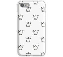 Monochrome pattern with crowns iPhone Case/Skin