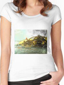 Ocean View Women's Fitted Scoop T-Shirt